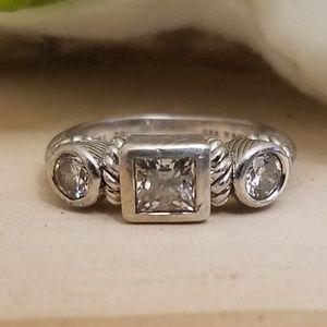 Jewelry - 925 Sterling Silver Judith Ripka Designer Ring
